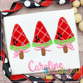 Watermelon on a Stick with Bows-ZigZag