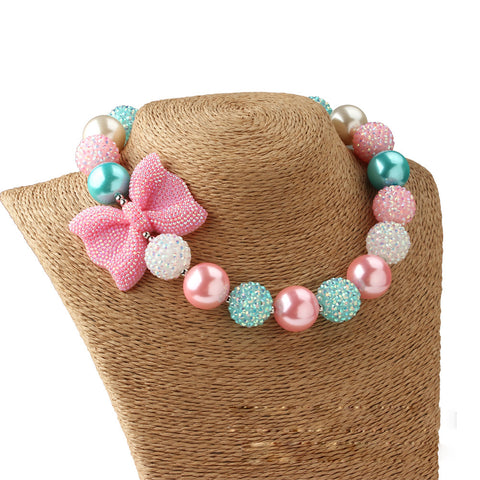 Bow and Beads Necklace