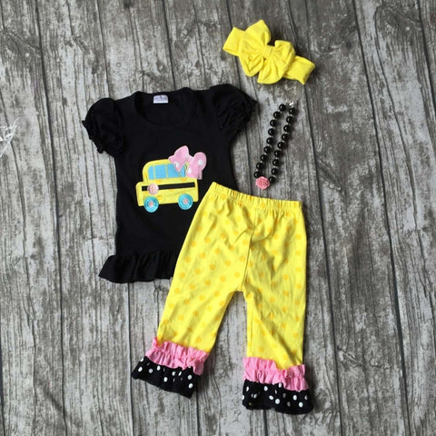 Back to School clothing with matching necklace and bow sets