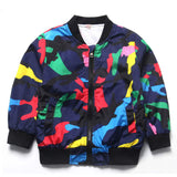 Multi-colored Camouflage Jacket