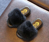 Faux Fur Slipper Sandals
