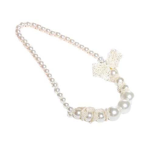 Pearl with Lace Necklace