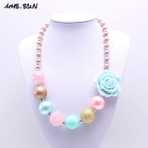 Toddler Flower Bubblegum Necklace
