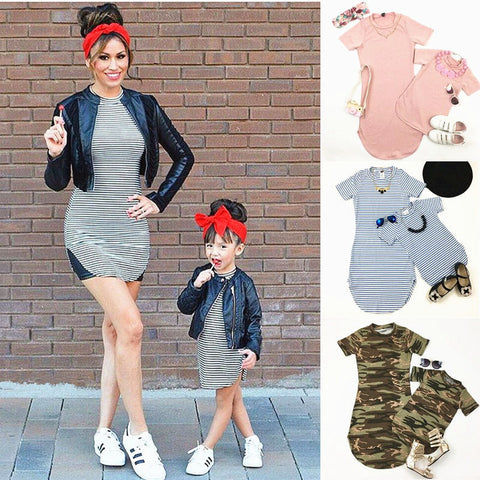 Mommy and Me T-Shirt style Dresses