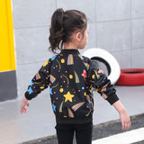 Starry Sky Printed Windbreaker