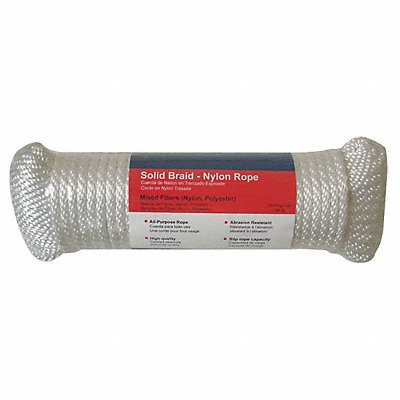 Rope Nylon Braided 5/16 in dia. 100ft L
