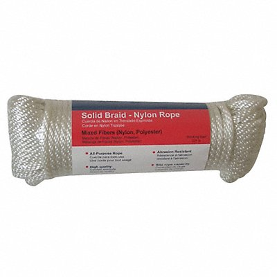 Rope Nylon Braided 3/8 in dia. 100 ft L