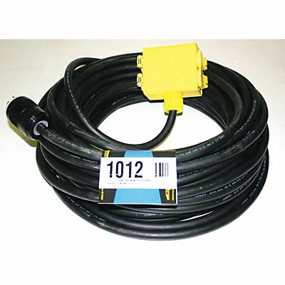 Extension Cord 100ft 12/4 20A SOW Black