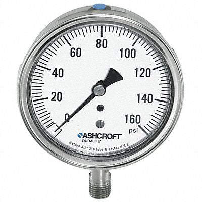 Gauge Pressure 1/4in NPT 1Percent 304 SS