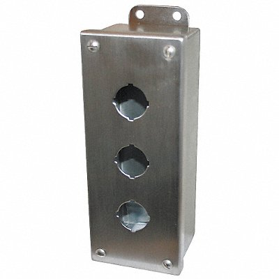 Pushbutton Enclosure 9.00 in.H SS