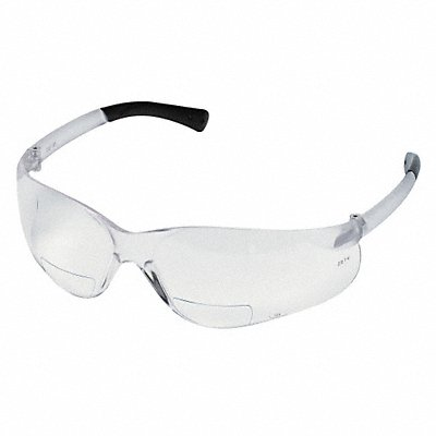 D7976 Bifocal Safety Read Glasses +2.50 Clear