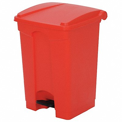 G8985 Fire-Resistant Trash Can Red