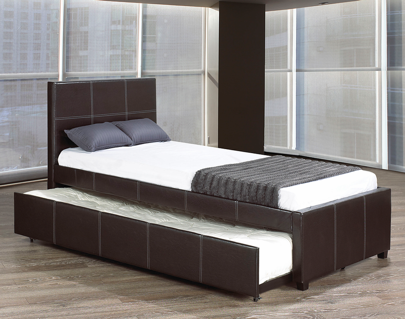 Black Bed with Trundle 132