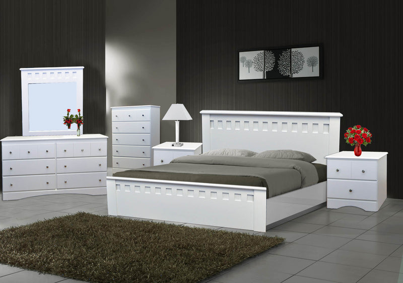 Canadian Made Bedroom Set White 1801