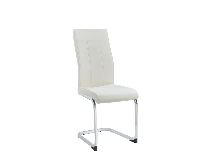 6 Piece White Dining Chair C-1878