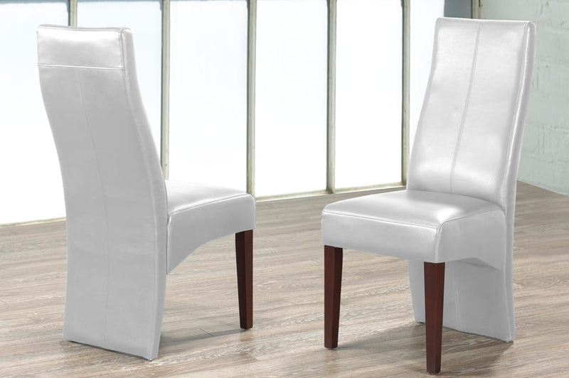 2 Piece Dining Chair (White) T-200W