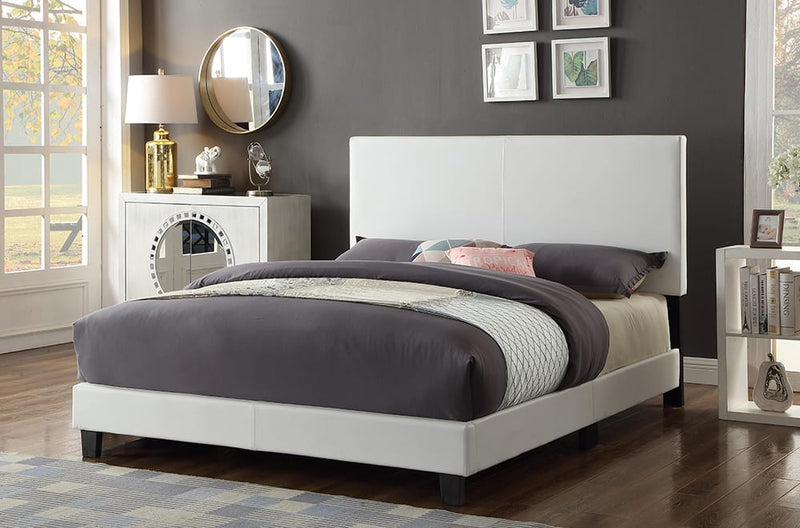 White Adjustable Headboard & Bed T2110W