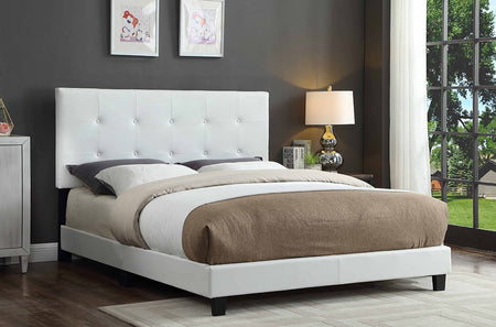 White Adjustable Headboard & Bed T2113W