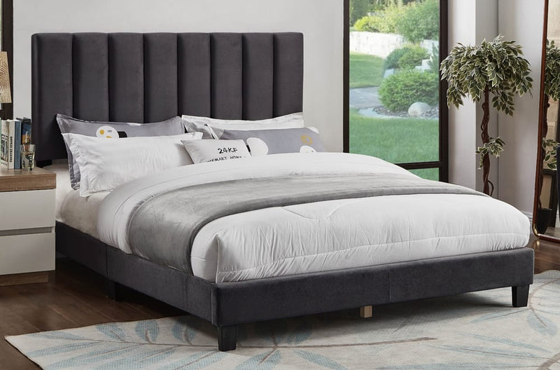 Charcoal Adjustable Headboard and Bed T2118C