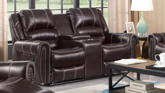 Cairo Recliner Loveseat with Console - KFOA2525L