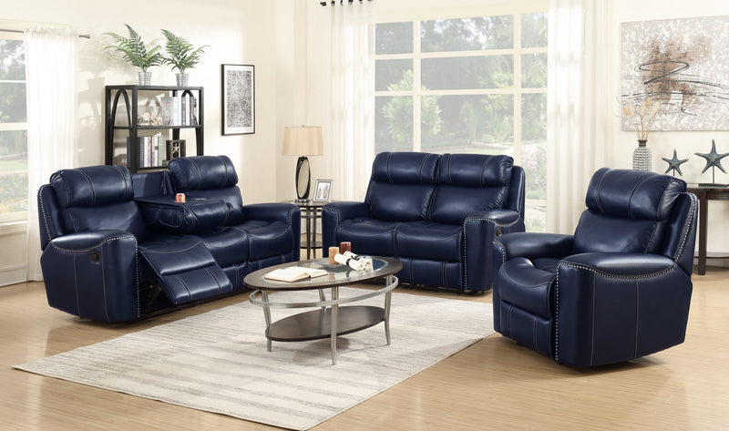 Russell Recliner Sofa Set 7217 Blue