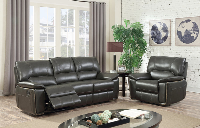 Whitney Recliner Sofa Set 7558 Grey
