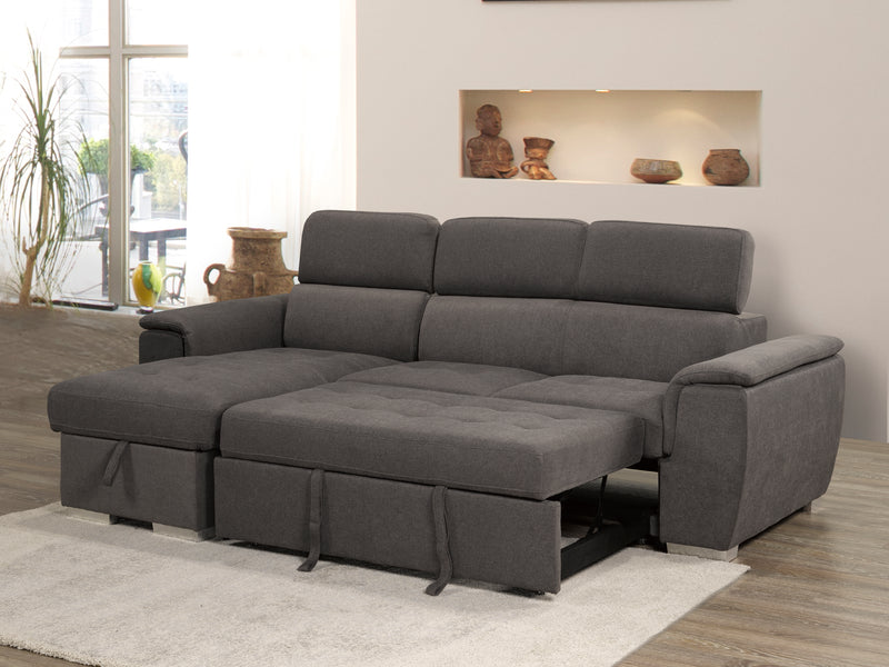 Grey Bentley Reversible Chaise-3103