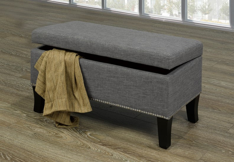 Grey Storage Bench IF-6241