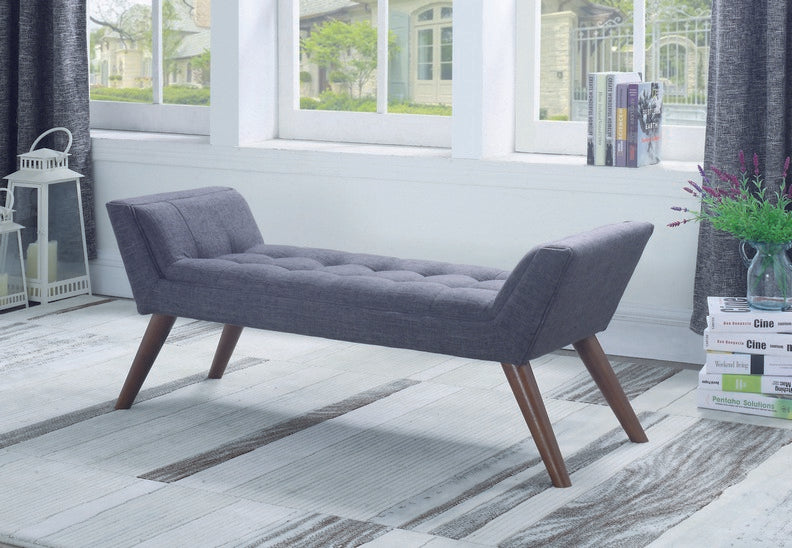 Grey Fabric Bench IF-632