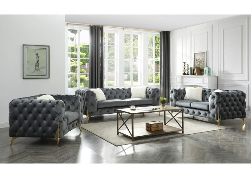 Moderno Sofa Set -Grey