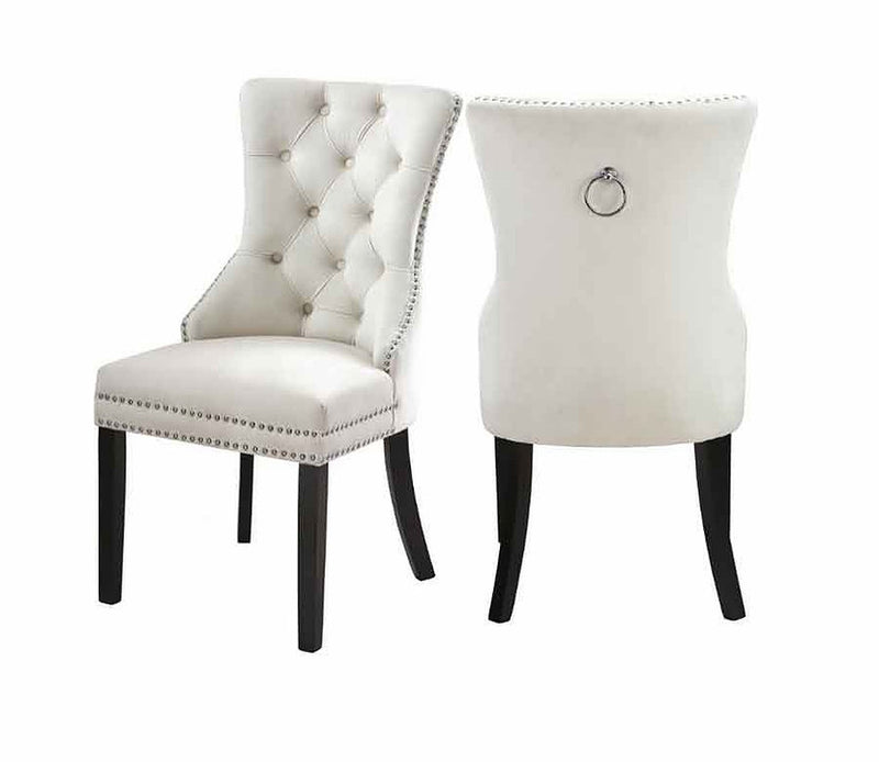 2 Piece Creme Dining Chair C-1223