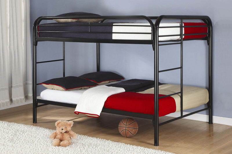 Metal Bunk Bed Double / Double - Black B502
