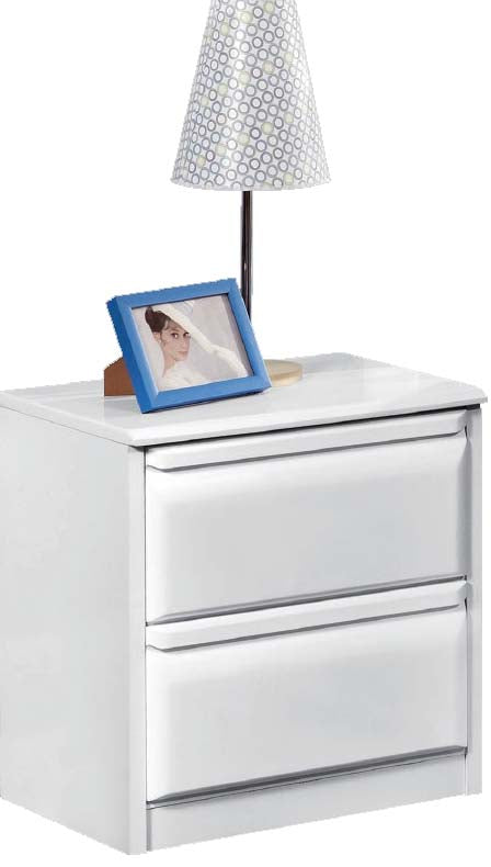 White Lacquer Nightstand  - North