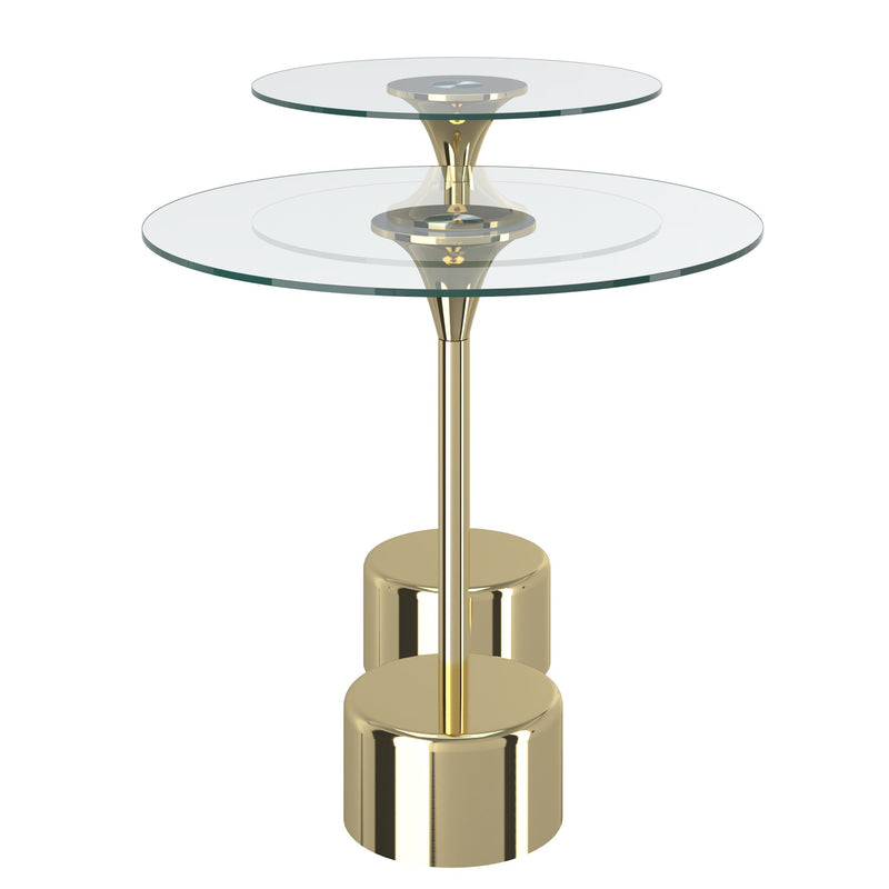Tulip 2 pc Accent Table in Gold