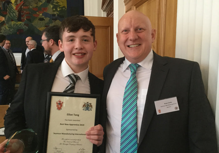 Young star Elliot wins SMI's new apprentice prize at national awards ceremony
