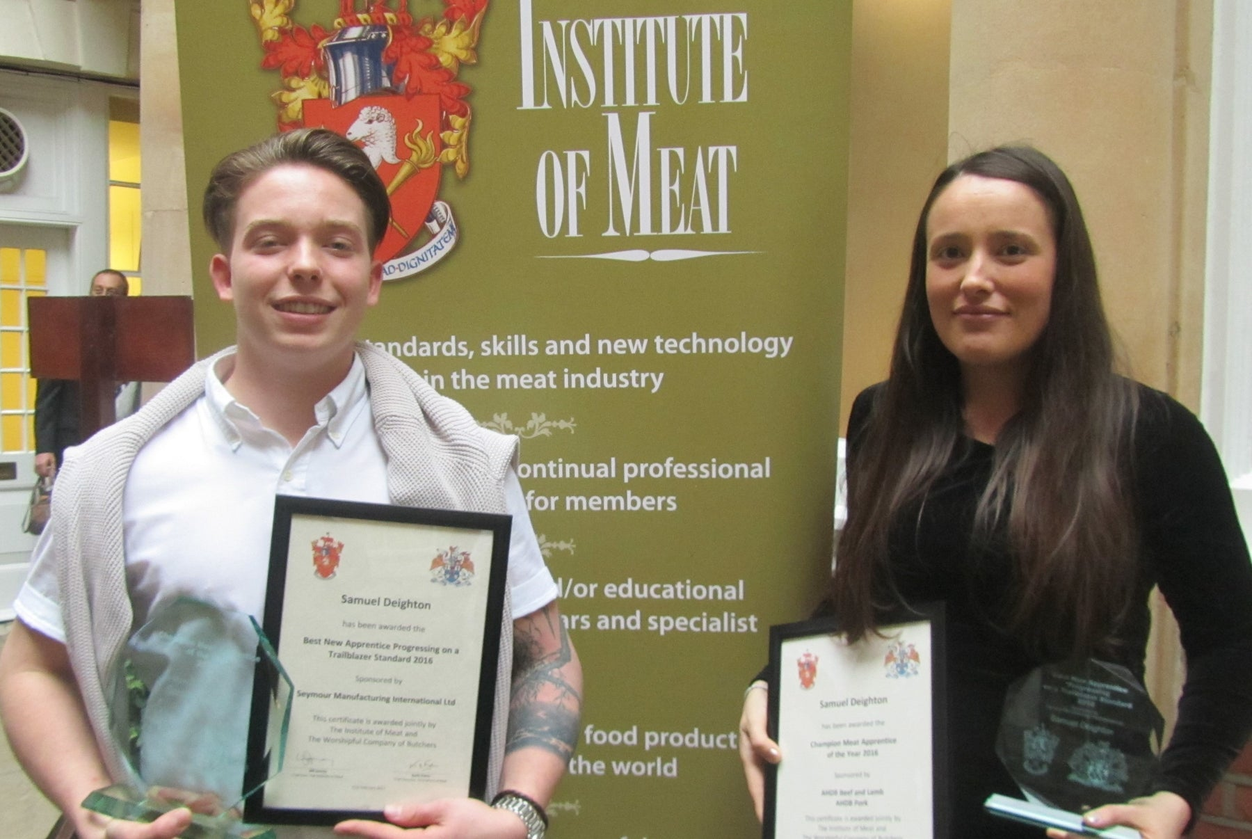 Trailblazing star Samuel wins SMI's apprentice award