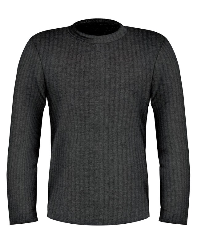 Grey Crew Neck Long Sleeve Lightweight Sweater - SCARCI Italian Sportswear