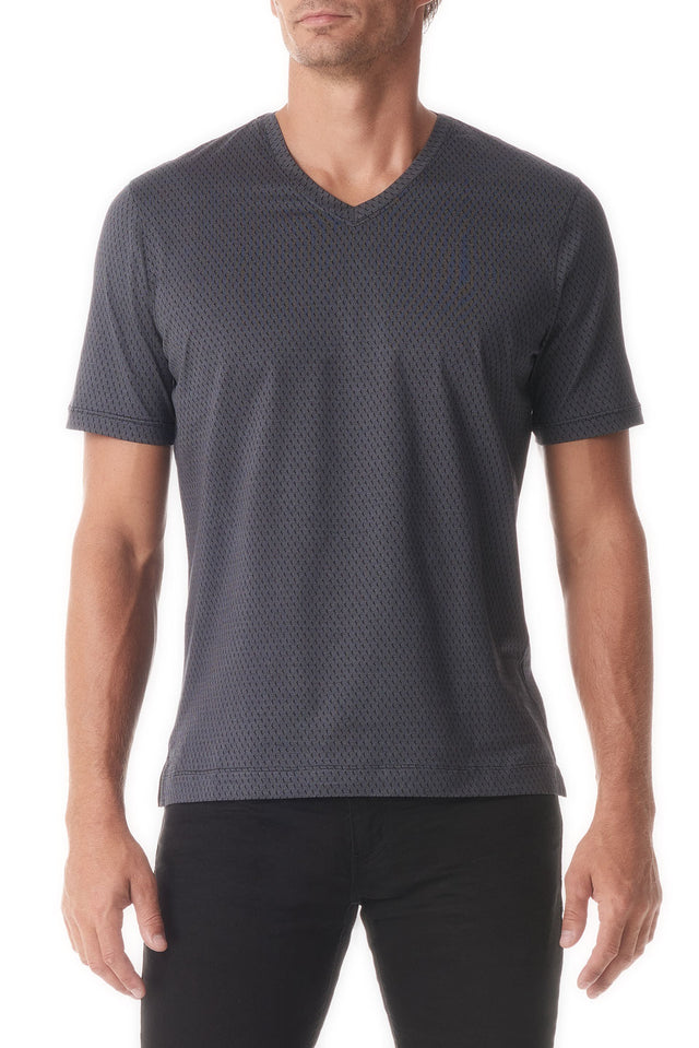 Black Jib Sail Texture V Neck