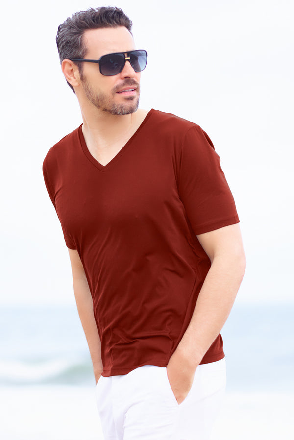 Mens Polyaide V Neck Undershirt