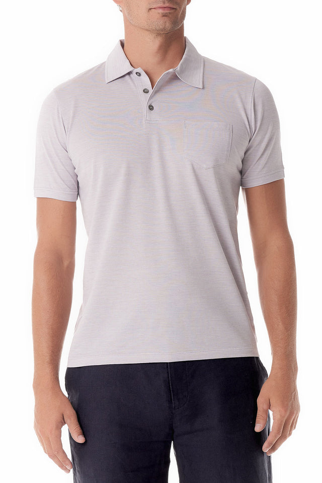 Grey Portofino Mens Polo Shirt Short Sleeve - SCARCI Italian Sportswear