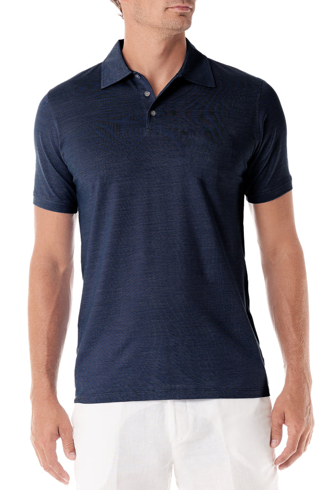 Navy Portofino Mens Polo Shirt - SCARCI