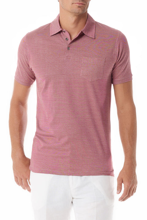 Rose Portofino Mens Polo Shirt Short Sleeve - SCARCI Italian Sportswear