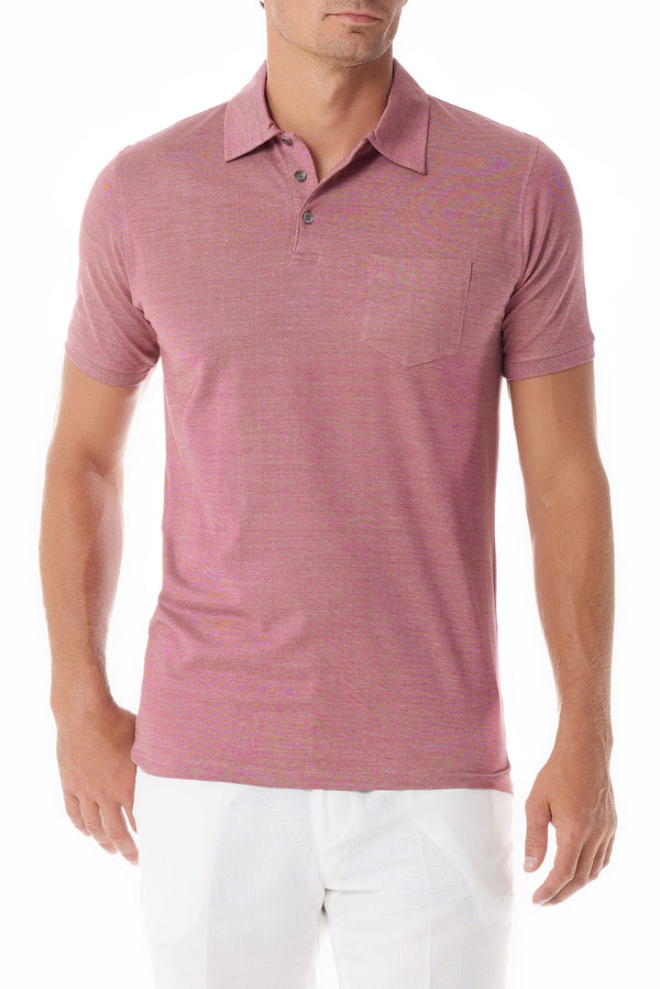 Rose Portofino Mens Polo Shirt Short Sleeve - SCARCI