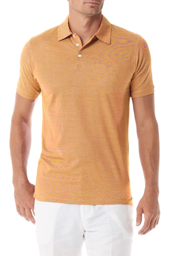 Salmon Portofino Mens Polo Shirt - SCARCI