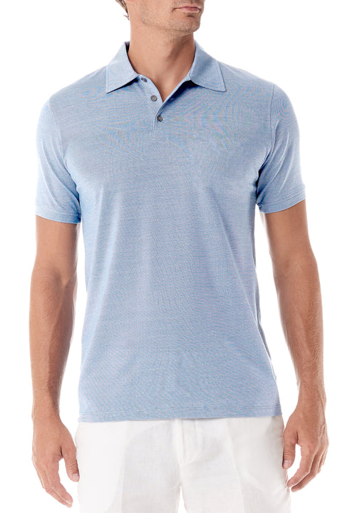 Light Blue Portofino Mens Polo Shirt - SCARCI