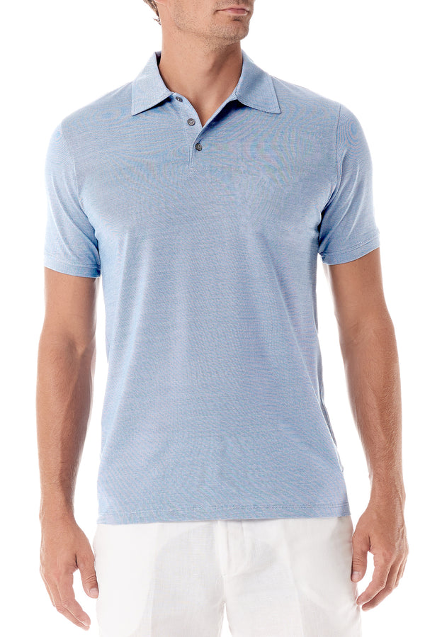 Light Blue Portofino Mens Polo Shirt - SCARCI Italian Sportswear