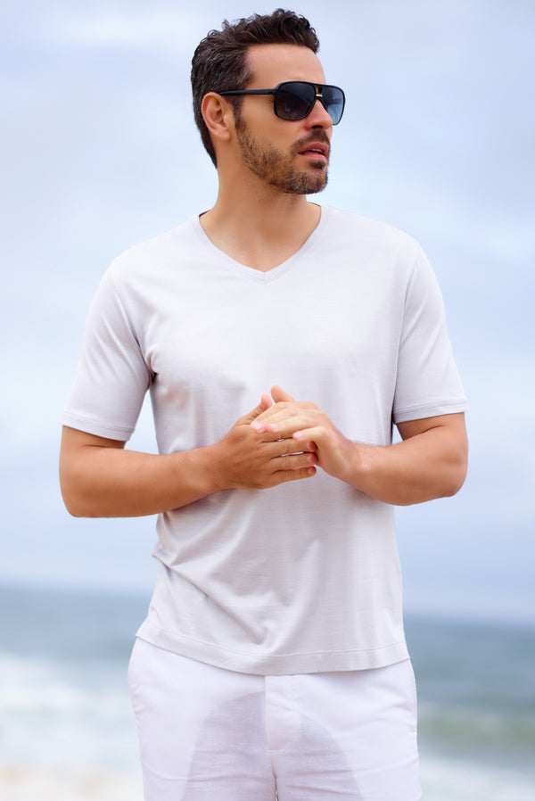Mens White Resort and Cruise Wear