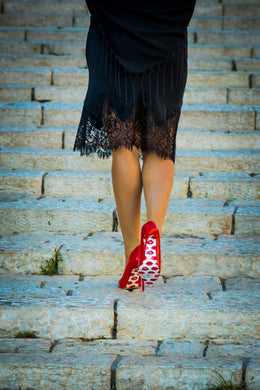 Red shoes in Jaffo