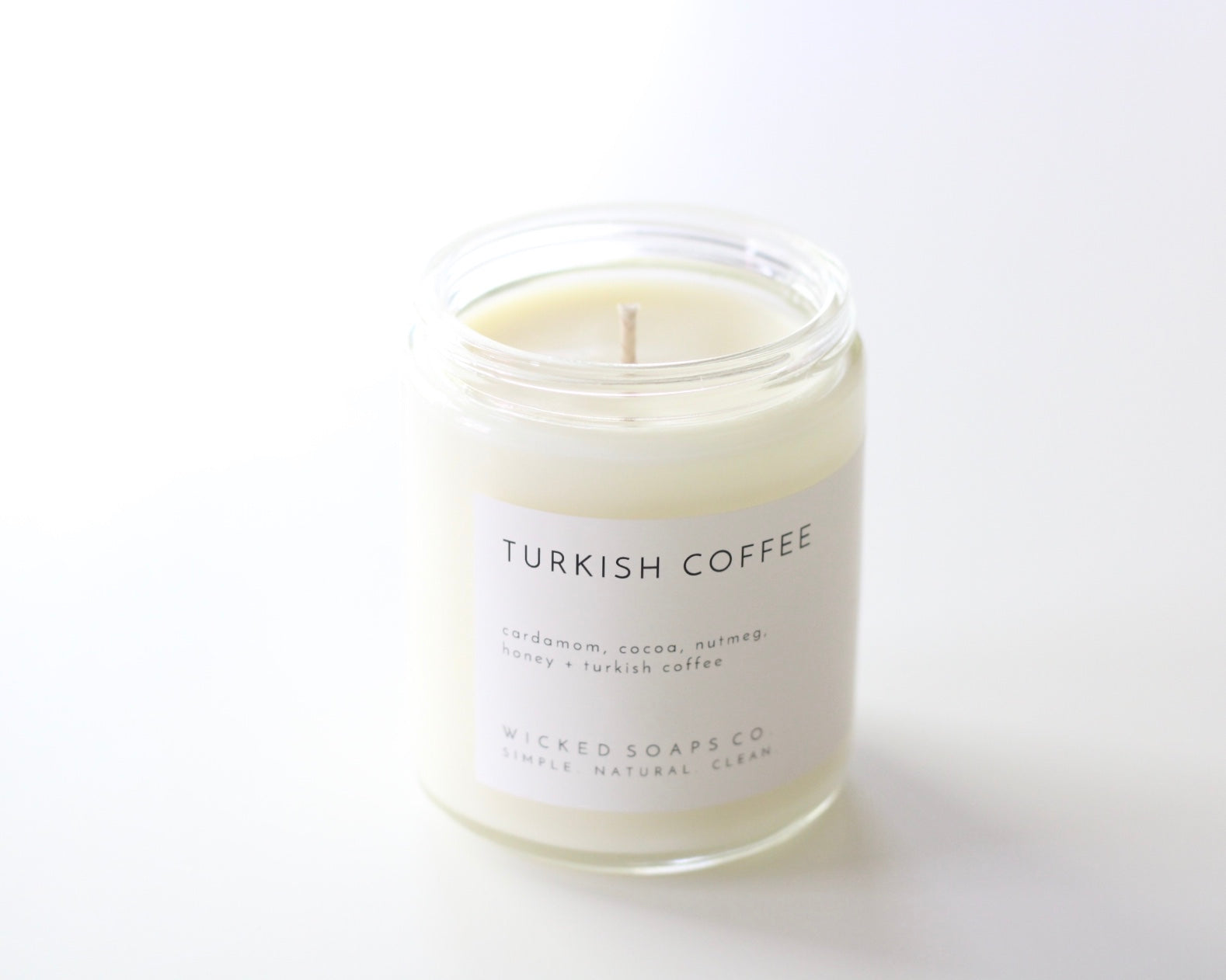 Turkish Coffee Minimalist Soy Candle