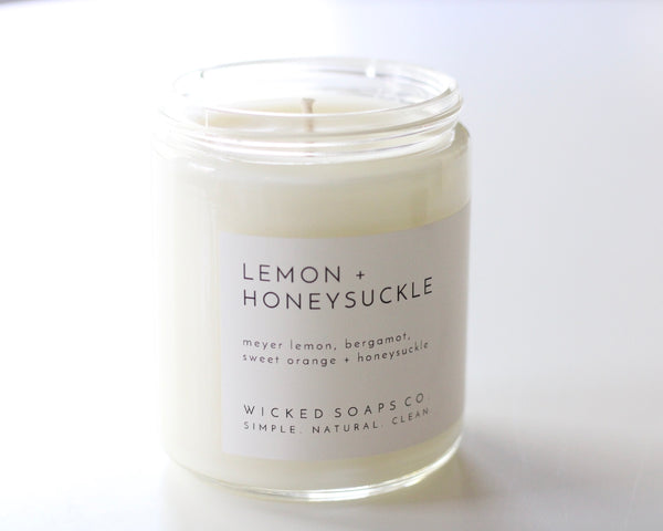 Lemon + Honeysuckle Soy Candle